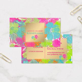 Cartão De Visitas Fundo do hibiscus de PixDezines/rainforest/DIY