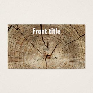 Cartão De Visitas Fundo dos anéis de árvore do falso