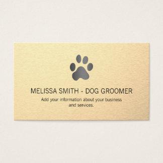 Cartão De Visitas Fundo metálico lustroso do impressão do cão