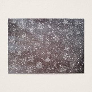 Cartão De Visitas Fundo nevado do dia escuro do inverno - 3D rendem