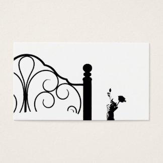 Cartão De Visitas Fundo preto e branco do rosa da cama & do pequeno
