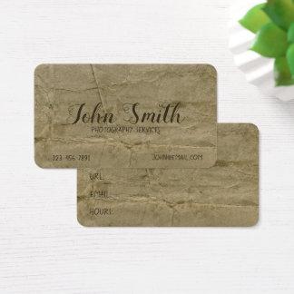 Cartão De Visitas Fundo velho antigo manchado do pergaminho sujo