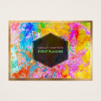 Cartão De Visitas Galáxia abstrata de PixDezines/cores de néon
