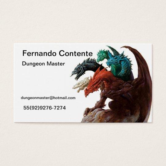Cartão De Visitas Game Master