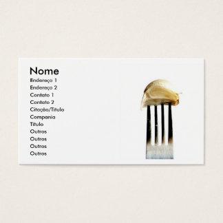 Cartão De Visitas Garfo com alho