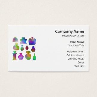 Cartão De Visitas Garrafas de perfume coloridas