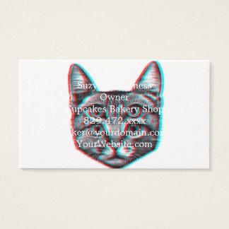 Cartão De Visitas Gato 3d, 3d gato, gato preto e branco