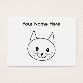 Cartão De Visitas Gato branco