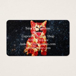 Cartão De Visitas gato da pizza - gatinho - gatinho