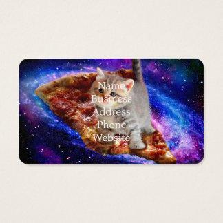 Cartão De Visitas gato da pizza - gatos bonitos - gatinho - gatinhos