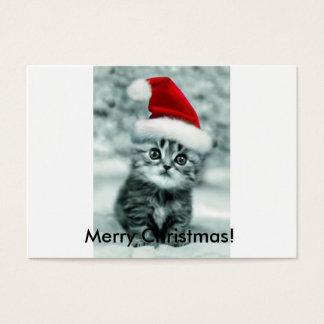 Cartão De Visitas Gato do Natal