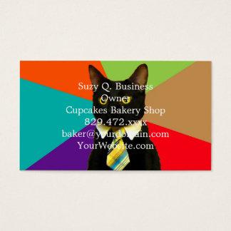 Cartão De Visitas gato do negócio - gato preto