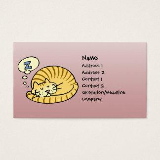 Cartão De Visitas Gato do sono