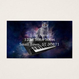 Cartão De Visitas gato do teclado - música do gato - espace o gato