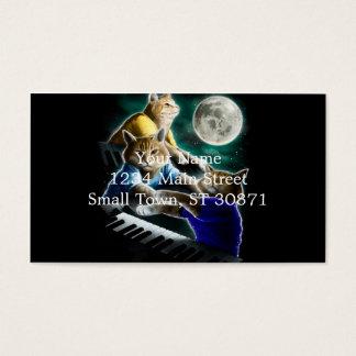 Cartão De Visitas gato do teclado - música do gato - memes do gato