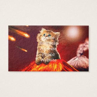 Cartão De Visitas gato do vulcão, gato vulcan,