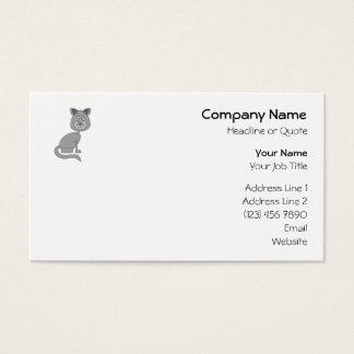 Cartão De Visitas Gato engraçado