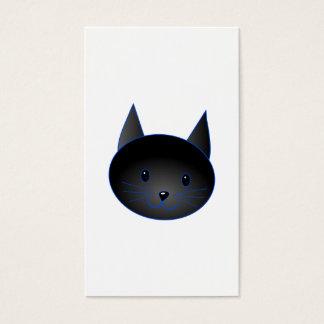 Cartão De Visitas Gato preto bonito. Ilustração dos desenhos