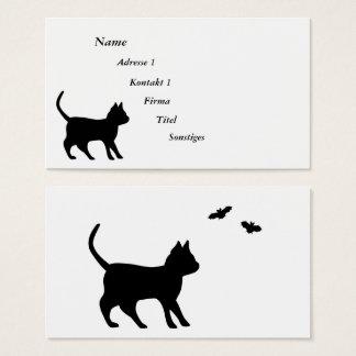 Cartão De Visitas Gato preto com bastão