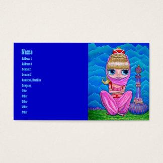 Cartão De Visitas Génios cor-de-rosa e sua garrafa mágica