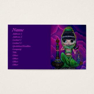 Cartão De Visitas Génios verdes maus com garrafa mágica
