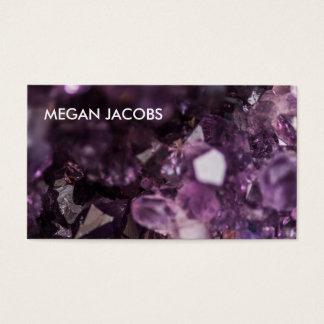 Cartão De Visitas Geode de cristal roxo bonito e corajoso