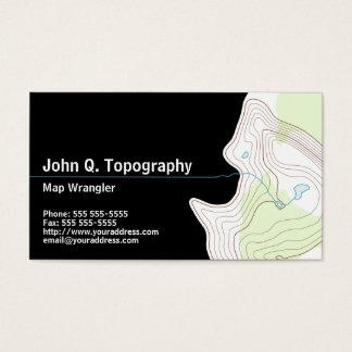 Cartão De Visitas Geólogo, mapa topográfico do cartógrafo pessoal