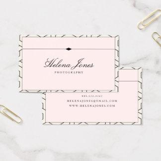 Cartão De Visitas Geométrico cor-de-rosa bonito do ★
