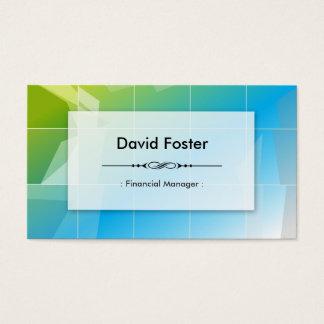 Cartão De Visitas Gerente financeiro - simples elegante moderno