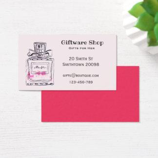 Cartão De Visitas Giftware ou garrafa de perfume em linha da loja de