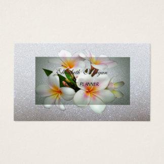 Cartão De Visitas Glittery romântico moderno elegante, floral