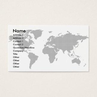 Cartão De Visitas Global-Negócio-Cartão