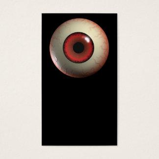 Cartão De Visitas Globo ocular vermelho do monstro