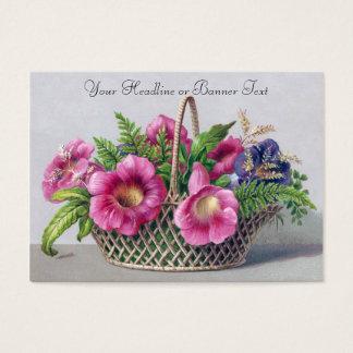 Cartão De Visitas Gloxinia e samambaias no Victorian do vintage da