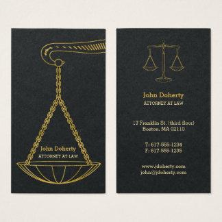 Cartão De Visitas GoldenScales do advogado profissional de justiça |