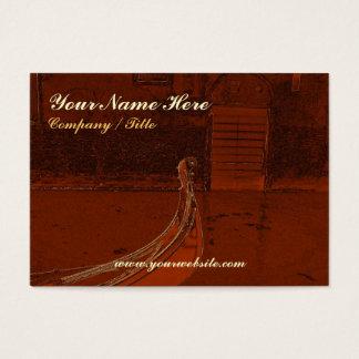 Cartão De Visitas Gôndola dourada