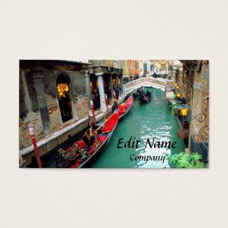 Cartão De Visitas Gôndola em um canal Venetian