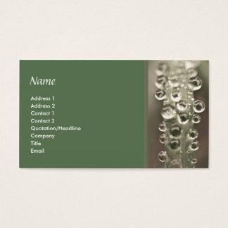 Cartão De Visitas Gotas