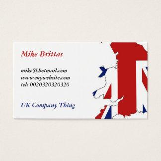 Cartão De Visitas Grâ Bretanha, Mike Brittas, mike@hotmail.comww..