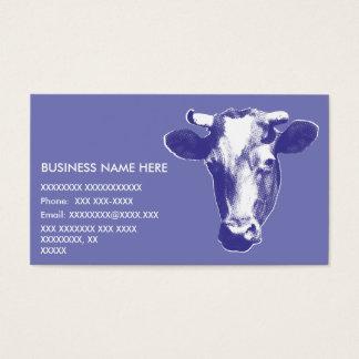 Cartão De Visitas Gráfico roxo da vaca do pop art