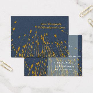 Cartão De Visitas Grama do trigo de PixDezines/fundo dourado de