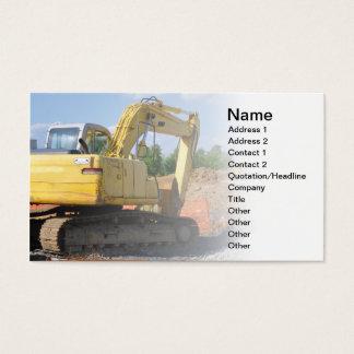 Cartão De Visitas grande equipamento de construção