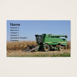 Cartão De Visitas grande equipamento de cultivo verde