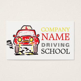 Cartão De Visitas Grande logotipo vermelho do carro dos desenhos