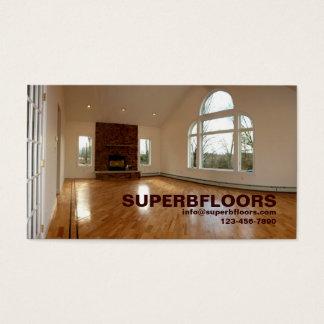Cartão De Visitas Grande sala na casa da construção nova