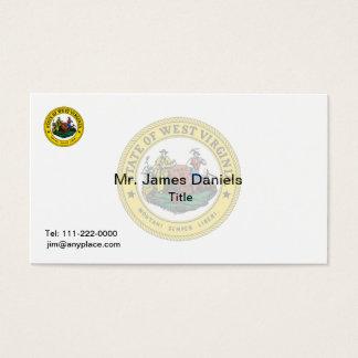Cartão De Visitas Grande selo de West Virginia