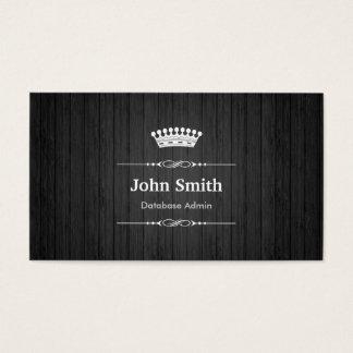 Cartão De Visitas Grão de madeira preta real do Admin da base de