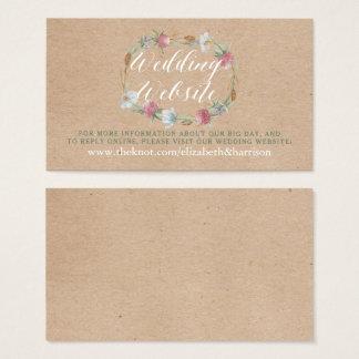 Cartão De Visitas Grinalda do Wildflower no Web site do casamento do