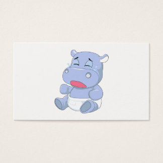 Cartão De Visitas Grito do hipopótamo do bebê