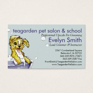 Cartão De Visitas Groomer do cão e do animal de estimação - banho de